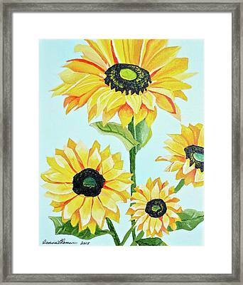 Sunflowers  Framed Print by Donna Blossom