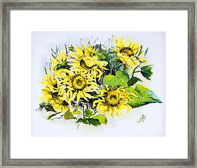 Sunflowers Framed Print by Elisabeta Hermann