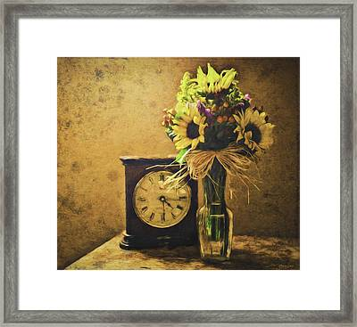 Sunflowers Floral Still Life 3 Framed Print