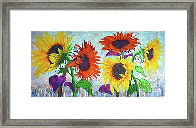Sunflowers For Elise Framed Print