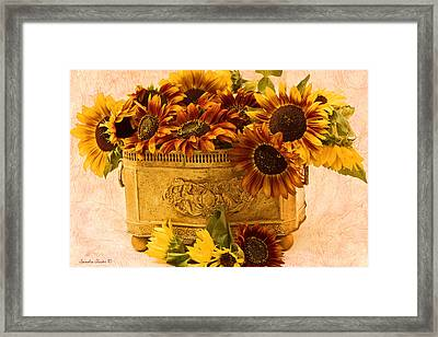 Sunflowers Galore Framed Print by Sandra Foster