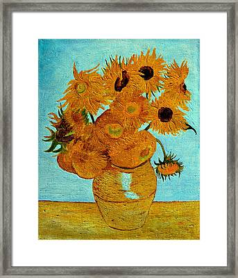Sunflowers Framed Print by Henryk Gorecki