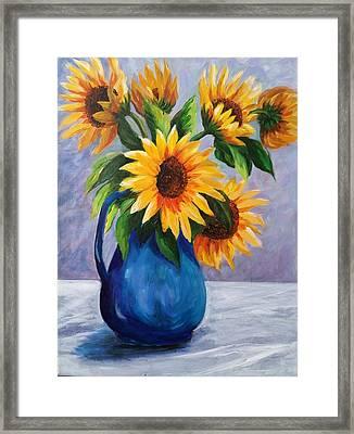 Sunflowers In Bloom Framed Print