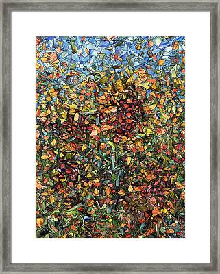 Framed Print featuring the painting Sunflowers by James W Johnson