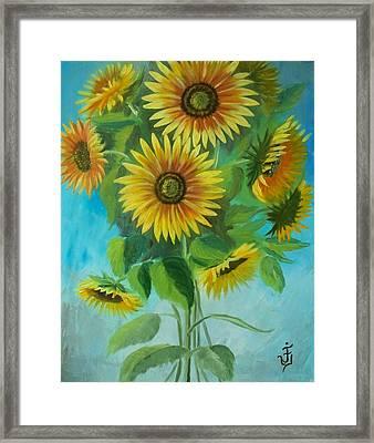 Sunflowers Framed Print by Jose Velasquez