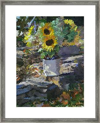 Sunflowers Framed Print by Kenneth Young