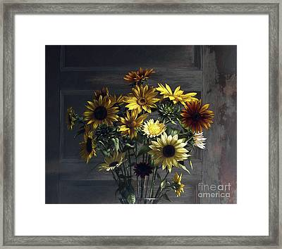 Sunflowers Framed Print by Larry Preston