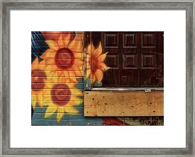 Sunflowers - Loading Dock Framed Print by Nikolyn McDonald