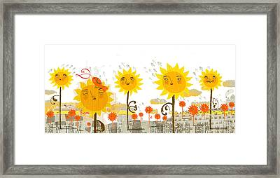 Sunflowers Framed Print by Luciano Lozano