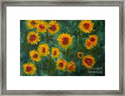 Sunflowers Framed Print by Lynne Reichhart