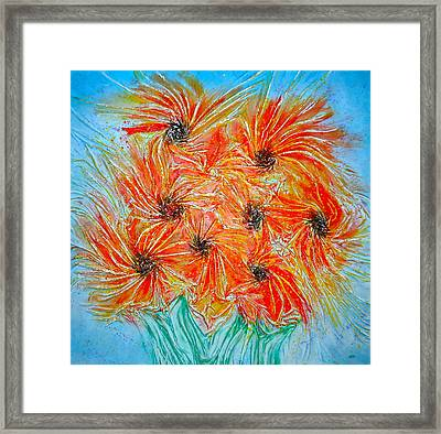 Sunflowers Framed Print by Marie Halter