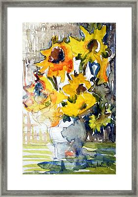 Sunflowers Framed Print by Mindy Newman