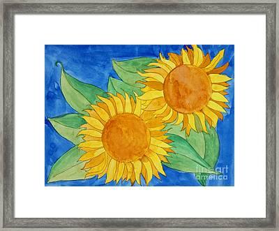 Sunflowers Framed Print by Norma Appleton
