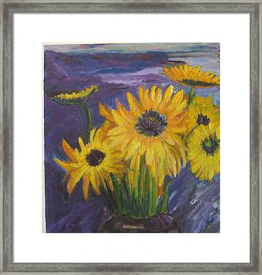Sunflowers Of My Mind Framed Print