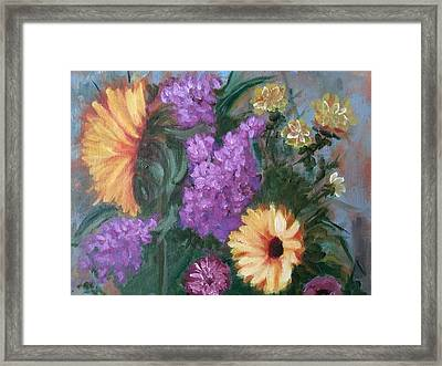 Sunflowers Framed Print by Sharon Schultz