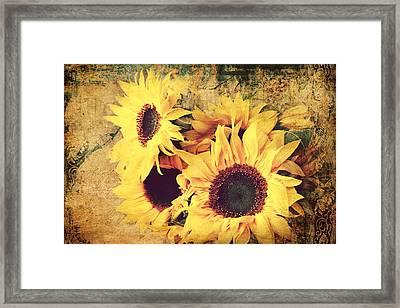 Sunflowers Still Life Framed Print by Heike Hultsch