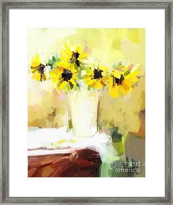 Sunflowers  Study Framed Print
