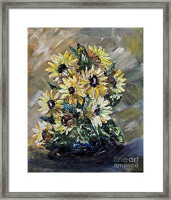 Sunflowers Framed Print by Teresa Wegrzyn