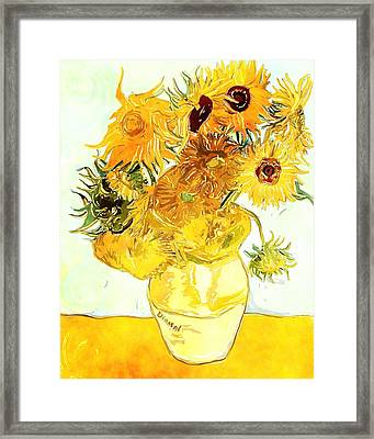 Sunflowers Van Gogh Framed Print