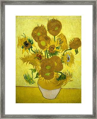Sunflowers Framed Print by Van Gogh
