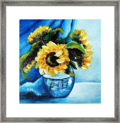 Sunflowers Framed Print by Vesna Martinjak