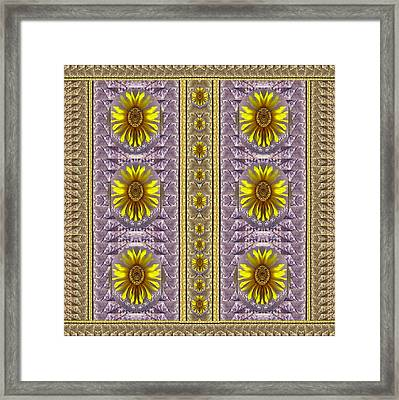 Sunflowers Vintage Lace In Joy And Harmonizing Framed Print