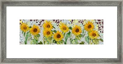 Sunflowers Wide Framed Print