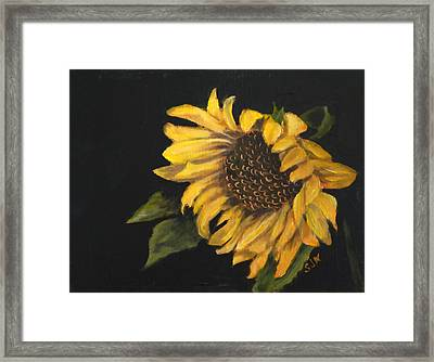Framed Print featuring the painting Sunflowervi by Sandra Nardone