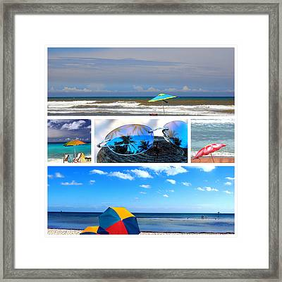 Sunglasses Needed In Paradise Framed Print by Susanne Van Hulst