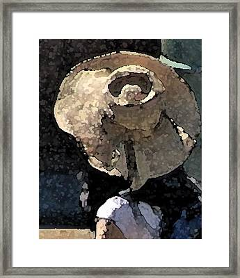 Sunhat Framed Print by Ken Barker