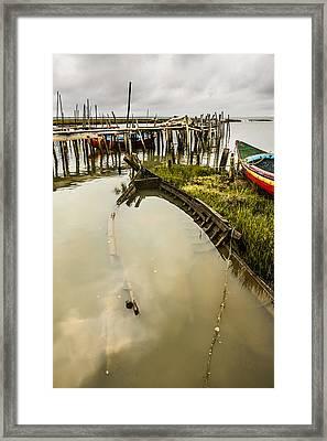 Sunken Fishing Boat Framed Print by Marco Oliveira