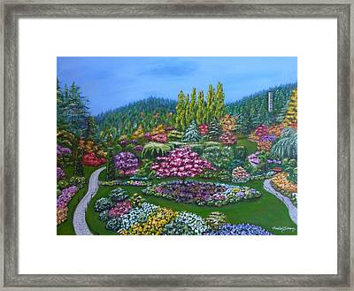 Framed Print featuring the painting Sunken Garden by Amelie Simmons