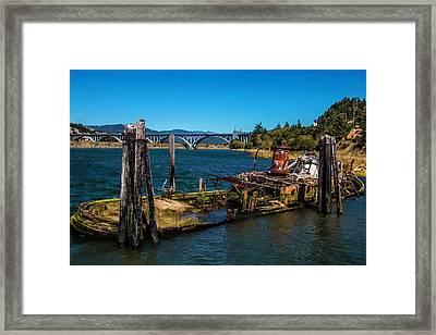 Sunken Mary D Hume Gold Beach Framed Print