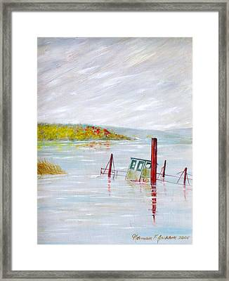 Sunken  Framed Print by Norman F Jackson