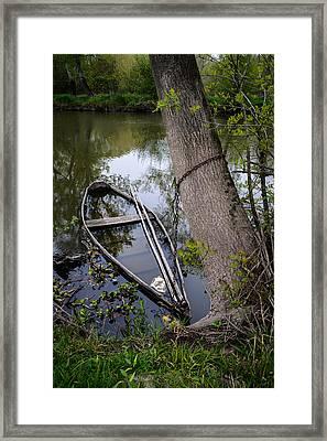 Sunken Rowboat Framed Print