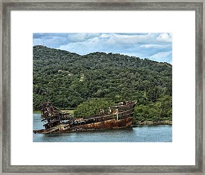 Sunken Shop Framed Print