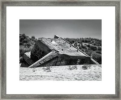Sunken Framed Print by Wim Lanclus