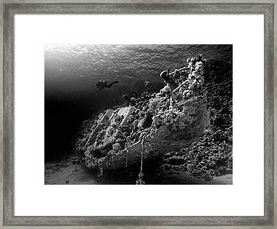 Sunken Yacht Of Abu Galawa Framed Print by Henry Jager