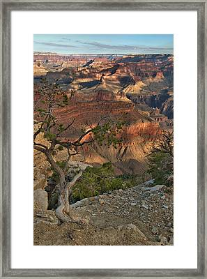 Framed Print featuring the photograph Sunkissed Canyon by Stephen  Vecchiotti