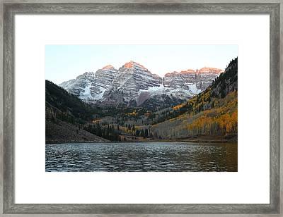 First Light Framed Print by Eric Glaser