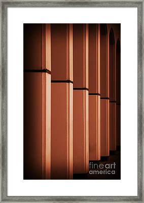 Framed Print featuring the photograph Sunkissed Pillars by Baggieoldboy