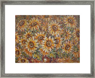 Framed Print featuring the painting Sunlight Bouquet. by Natalie Holland