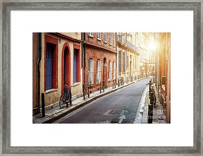 Sunlight In Toulouse Framed Print by Elena Elisseeva