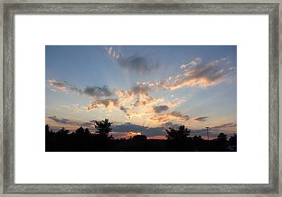 Sunlight Inspiration Framed Print