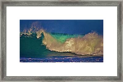 Sunlight On Breaking Wave Framed Print