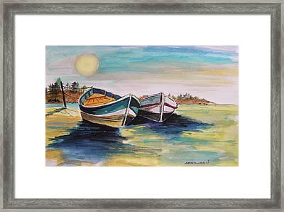 Sunlight On Flat Water Framed Print by John Williams