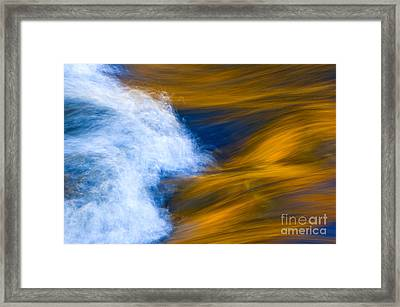 Sunlight On Flowing River Framed Print by Bill Brennan - Printscapes