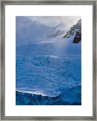Sunlight On Ice - Antarctica Photograph Framed Print by Duane Miller