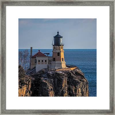 Sunlight On Split Rock Lighthouse Framed Print by Paul Freidlund
