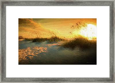 Sunlight On The Dunes Framed Print